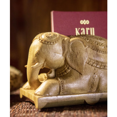 The_Hasti_Holder:_Wood-Desk Accessories-Karu-Handcrafted Luxury-1828