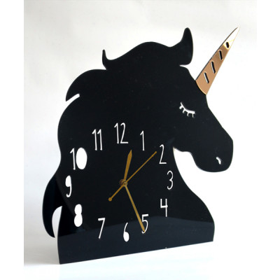 Wall_Clock_Unicorn:_Black-Clocks-Pop Goes The Art-1391