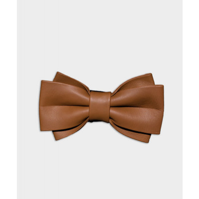 MEN'S_GENUINE_LEATHER_BOW_TIE_-_TWIN_WIDE_LIGHT_TAN-Neckties-Forth-2658