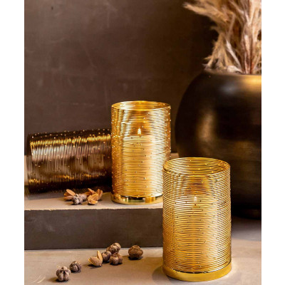Constellation_Wire_Hurricane_Candle_Holder_(Gold)-Candle Stands and Tea Light Holders-Logam-4140