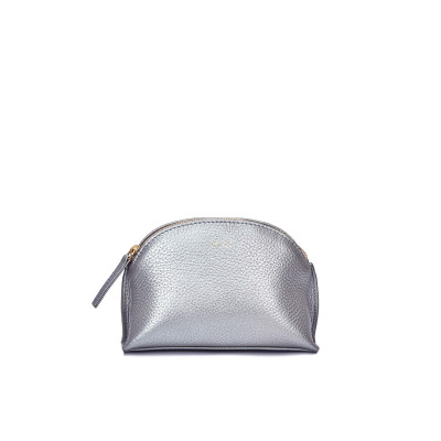 Cosmetic_Case_-_Metallic_Silver-Travel Kits and Travel Pouches-INAI-2326