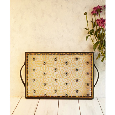 Bee_accent_Tray:_Rectangle-Platters and Trays-Kalpane Home-2584