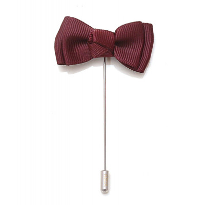 Maroon_Bow_Lapel_Pin-Lapel Pin-AZGA-1080