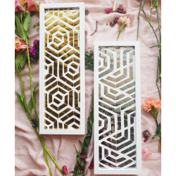 The_'Golden_and_Silver_Maze'_Wall_Accents_(Set_of_2)-Mirrors And Wall Accents-Neter-2358