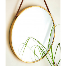Brassel_Round_Mirror-Mirrors And Wall Accents-Topp Brass-3102