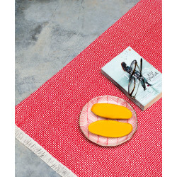 RED_DOTTED_DHURRIE-Rugs and Dhurries-IDAM-2492