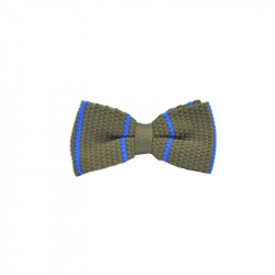 Olive_with_Blue_Stripes_Knitted_Tie-Bow Tie-Life In Slow Motion-113