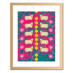 Holy_Cow_Pattern_Magenta_-Wall Art-Doodle Dabba-3828
