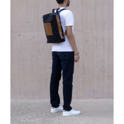 LATITUDE_LEATHER_LAPTOP_BAG_-_CONVERTIBLE_-_CANVAS_BLACK-Laptop bags, covers and Sleeves-Forth-2665