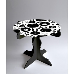 Monochrome_Collapsible_Cake_Stand-Decor-Pop Goes The Art-1832