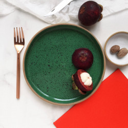 Rimmed_Side_Plate_:Speckled_Green-Table Setting-Button Curry-3640
