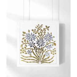 Phool_Silver_and_Gold_Wall_Accent-Mirrors And Wall Accents-Minisha Designs-4192