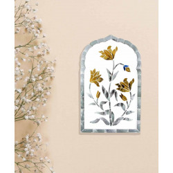 Lilly_Thikri_Gold_and_Silver_Wall_Accent-Mirrors And Wall Accents-Minisha Designs-4199