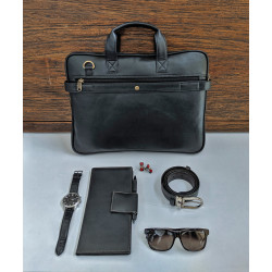 Coal_Black_Laptop_Bag-Laptop bags, covers and Sleeves-Leather No Leather-2210