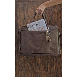 Brown_Portfolio_Bag-Laptop bags, covers and Sleeves-Leather No Leather-2209