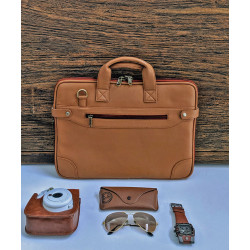 Mango_Tan_Laptop_Bag-Laptop bags, covers and Sleeves-Leather No Leather-2212