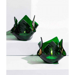 Crumpled_Votive:_Green-Candle Stands and Tea Light Holders-Glass Forest-3999