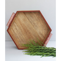 FIGURAS_TRAY_RED-Platters and Trays-Karo Store-1965