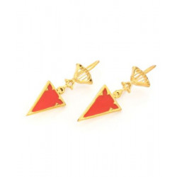 Lattice_Orange_Enamel_earrings-Jewellery-AZGA-2102