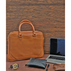 Mango_Tan_Portfolio_Bag-Laptop bags, covers and Sleeves-Leather No Leather-2206